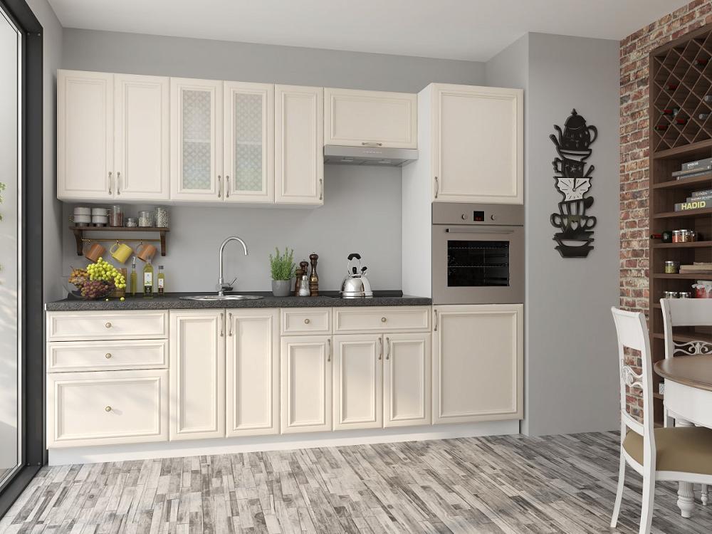 Прямая кухня Шале-02 Ivory