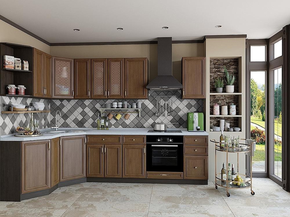 Угловая кухня Шале-03 Antico фото