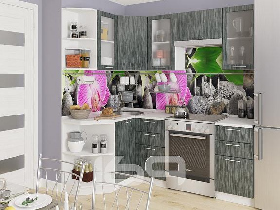 Купить Угловая кухня Валерия-М-05 Черный металлик дождь в интернет магазине. Цены, фото, описания, характеристики, отзывы, обзоры