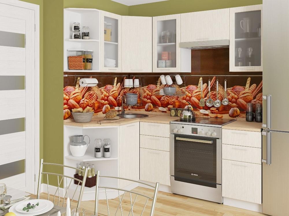 Угловая кухня Валерия-М-05 Дуб беленый