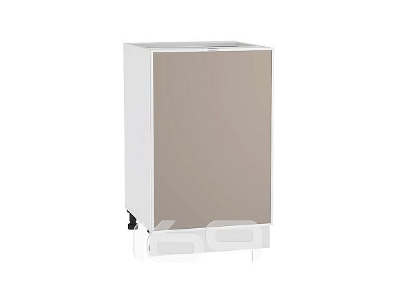 Купить Шкаф нижний с 1-ой дверцей Фьюжн-AL-02 Н 500 Cappuccino-Белый в интернет магазине. Цены, фото, описания, характеристики, отзывы, обзоры
