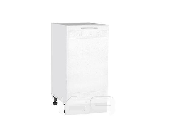 Купить Шкаф нижний с 1-ой дверцей Греция Н 400 Белый металлик-Белый в интернет магазине. Цены, фото, описания, характеристики, отзывы, обзоры