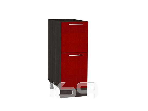 Купить Шкаф нижний с 2-мя ящиками Греция Н 302 Гранатовый металлик-Венге в интернет магазине. Цены, фото, описания, характеристики, отзывы, обзоры