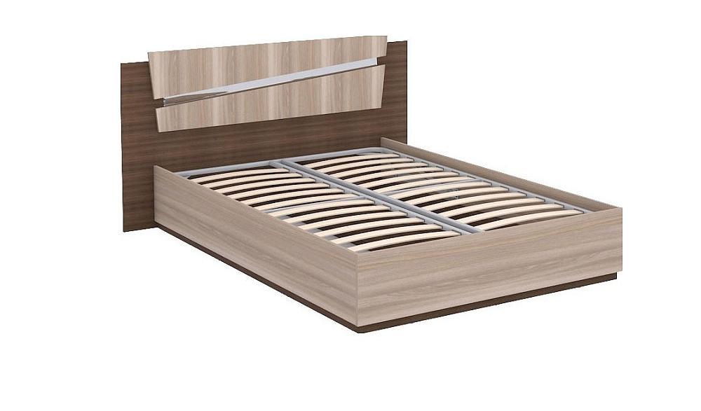 Кровать двойная Т Моника 140 (А) Ясень шимо светлый