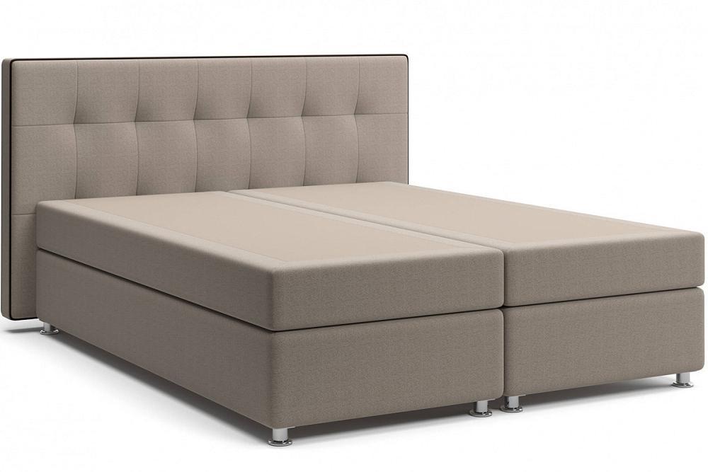 Кровать Николетт (22) Box Spring (с матрасом и независимым пружинным блоком) Mika 10 (Велюр)/Kolej cp 536 (Искусственная кожа) фото
