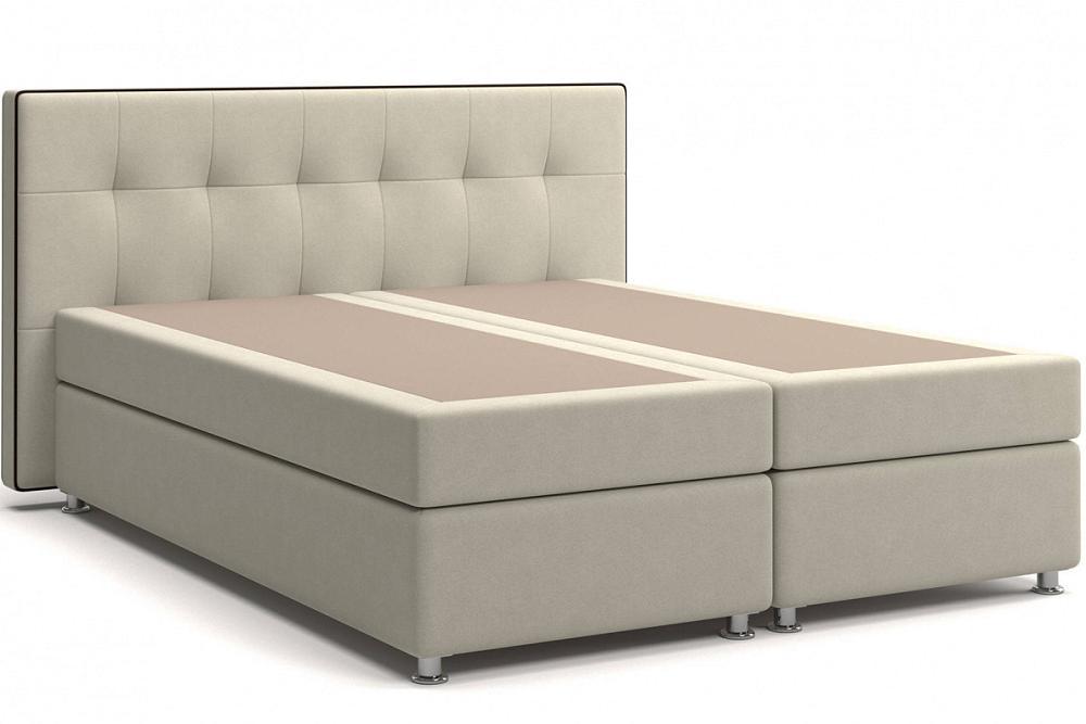 Кровать Николетт (25) Box Spring (с матрасом и независимым пружинным блоком) Мика 2 (Велюр) фото