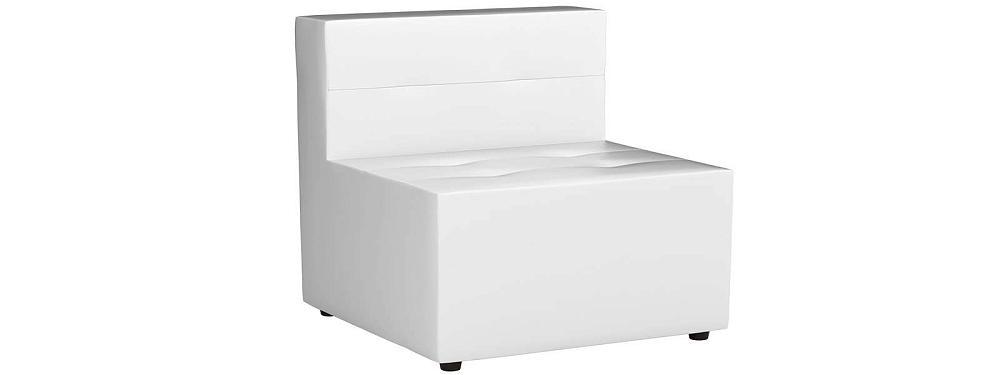 Модульный диван Домино Экокожа Белый