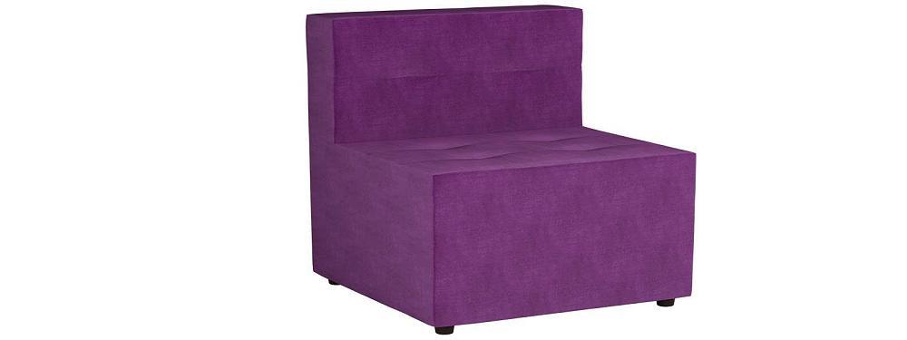 Модульный диван Домино Микровельвет Фиолетовый фото