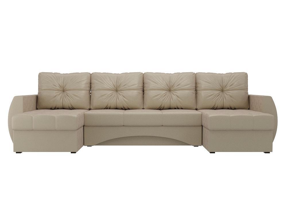 П-образный диван Сатурн Флок Бежевый