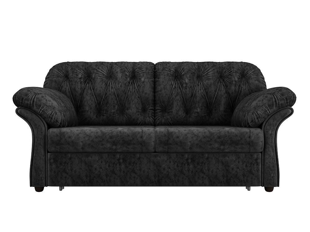 Прямой диван Ванкувер Велюр черный фото