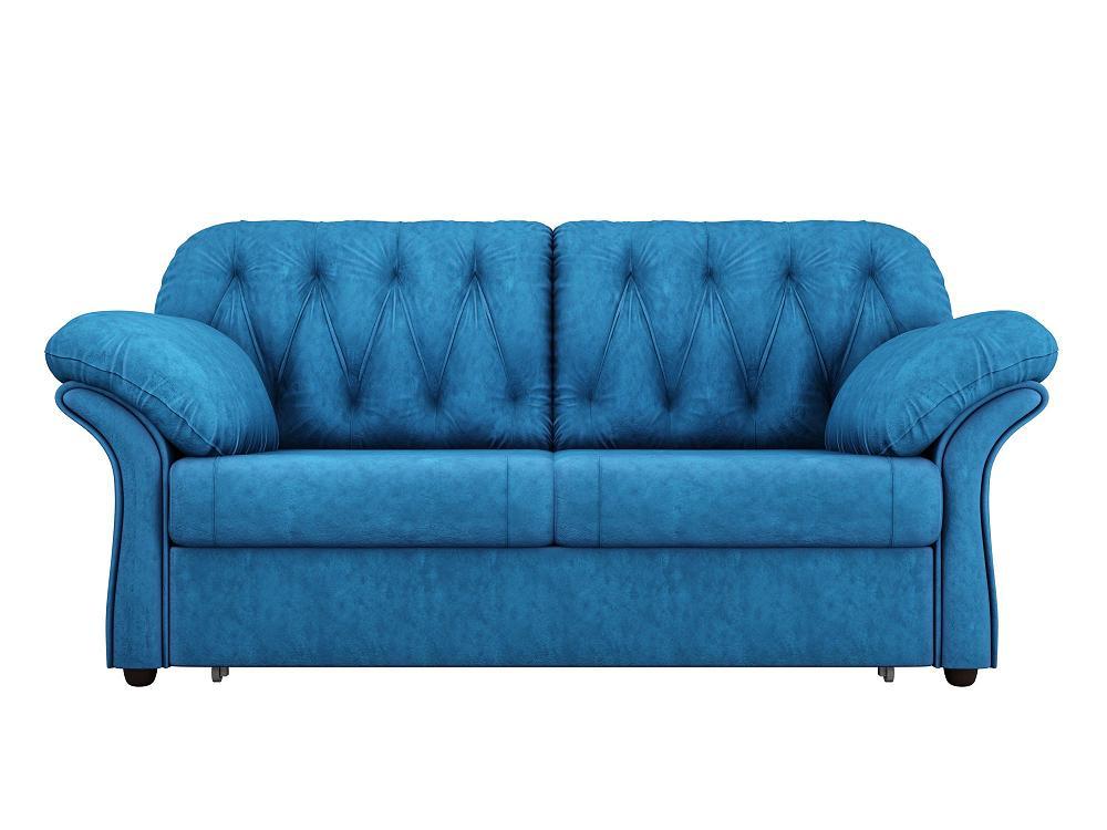 Прямой диван Ванкувер Велюр голубой фото