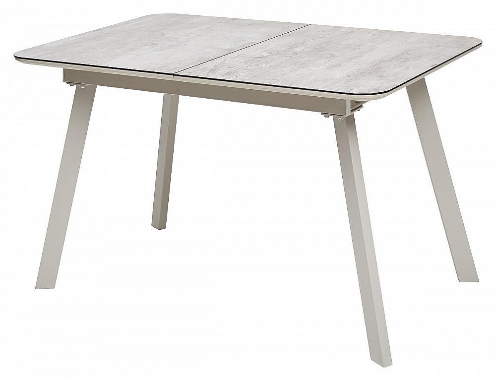 Стол ARUBA 120 BEIGE/ CAPPUCINO глазурованное стекло