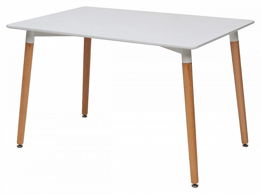 Стол TANSY 120 белый/массив бука фото