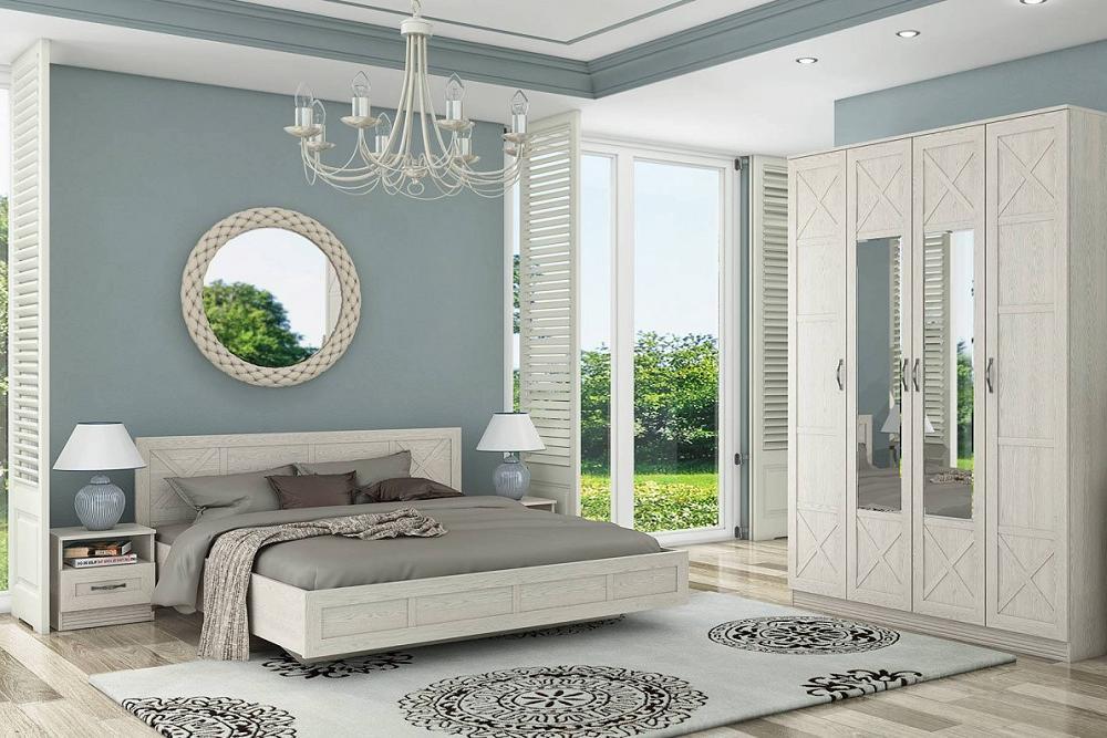 Спальня Лозанна 2 Дуб белый