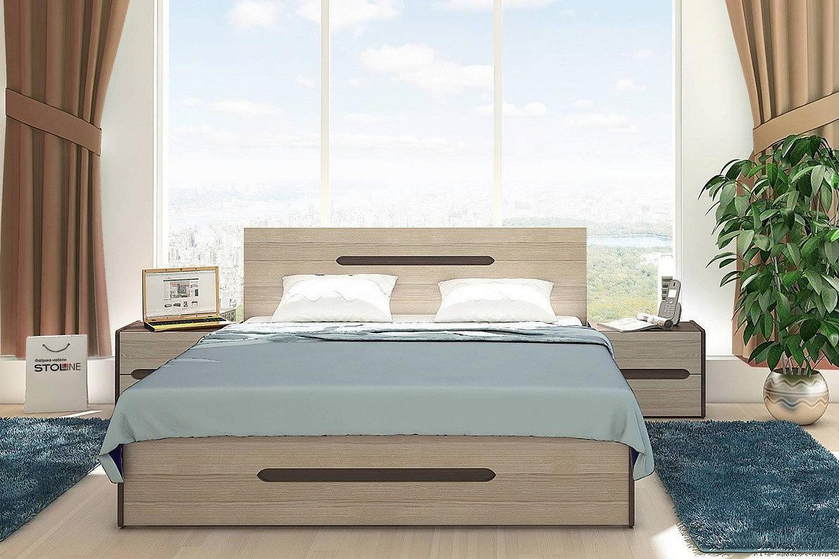 Спальня Ребекка-1 Ясень песочный/ Орех персия