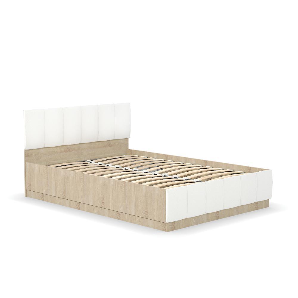 Кровать двуспальная Линда 303 140 NEW Дуб сонома/ Белый