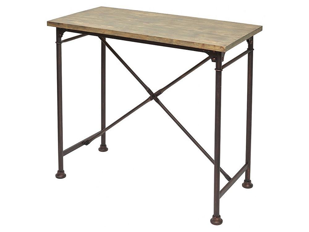 Стол барный SHT01 Дуб серо-коричневый винтажный фото