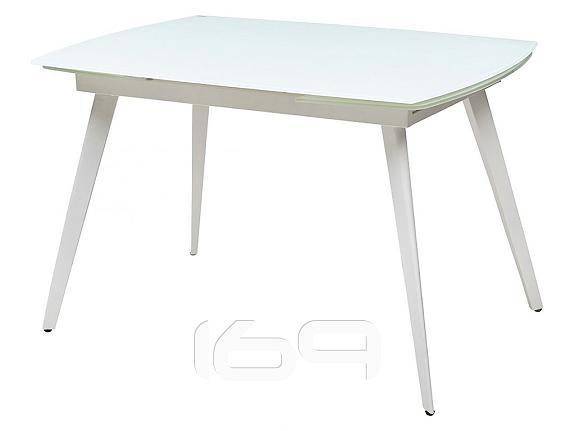Купить Стол ELIOT 120 Frosted Super White glass+White в интернет магазине. Цены, фото, описания, характеристики, отзывы, обзоры