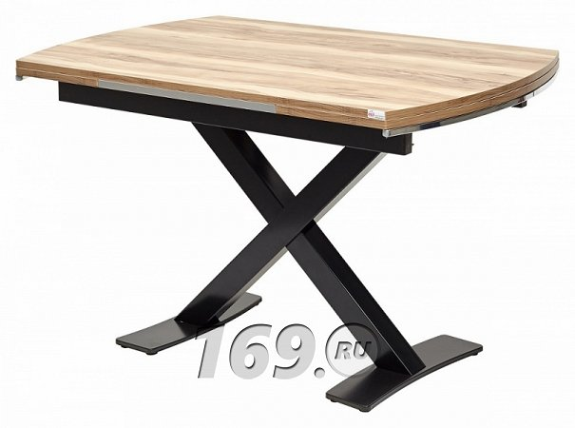 Купить Стол KRIS TROPIC 120 см Орех / Черный в интернет магазине. Цены, фото, описания, характеристики, отзывы, обзоры