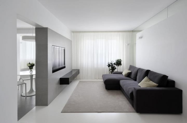 Дизайн гостиной комнаты в стиле минимализм