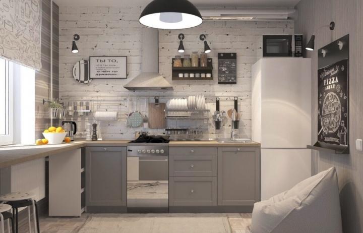 Интерьер кухонь без навесных шкафов