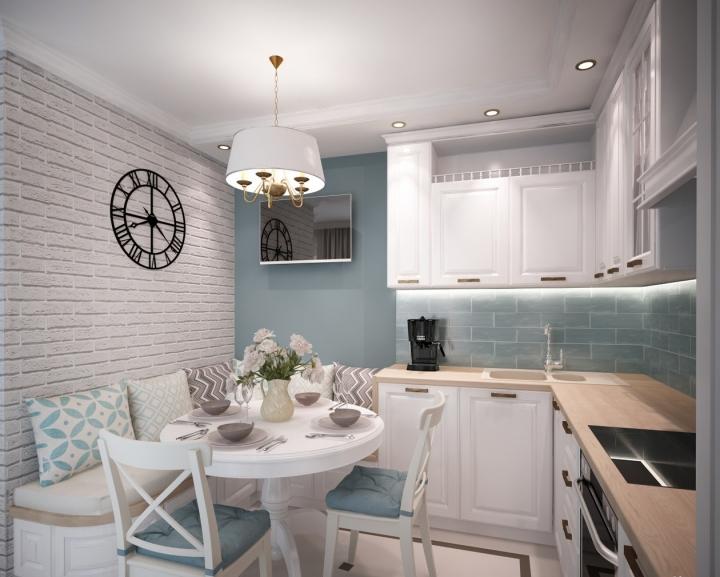 Кухонный диван в дизайне кухни