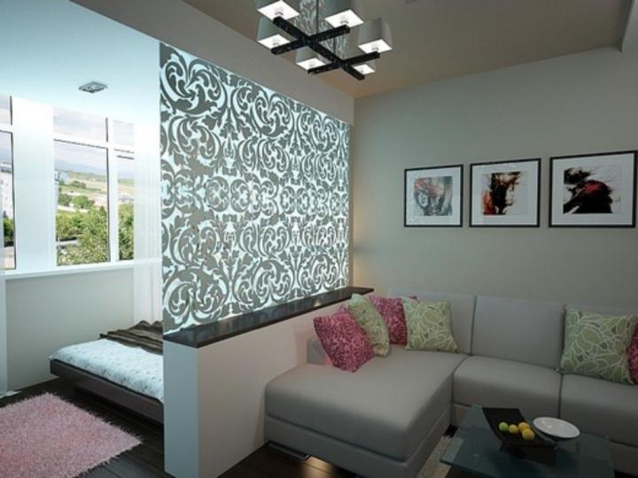 Красивые перегородки для зонирования гостиной