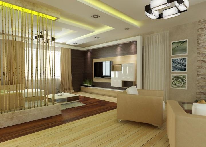 Разделение комнаты на две зоны современные идеи по зонированию