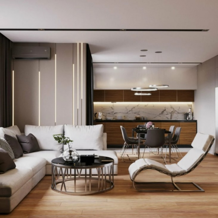Выбор мебели для кухни-гостиной