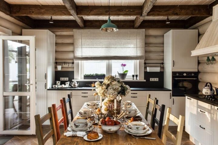 Скандинавский стиль в интерьере загородного дома кухня