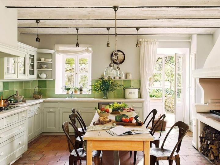 Кухня на даче в стиле Прованс