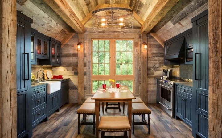 Кухня деревенский стиль прованс шале