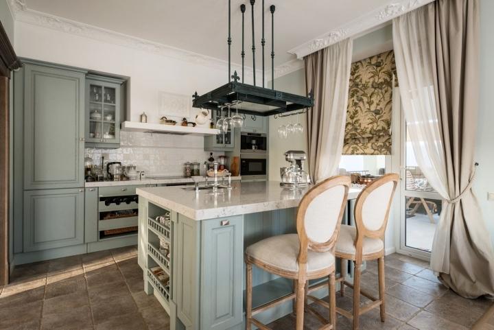Романтический прованс в интерьере кухни