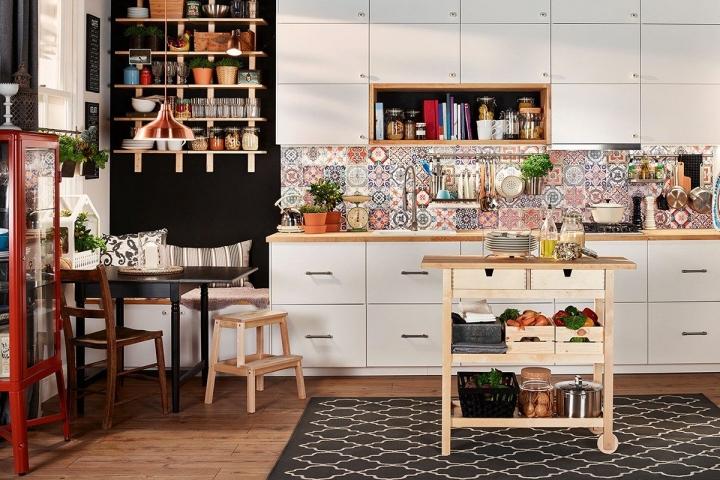 Бохо стиль в оформлении кухни