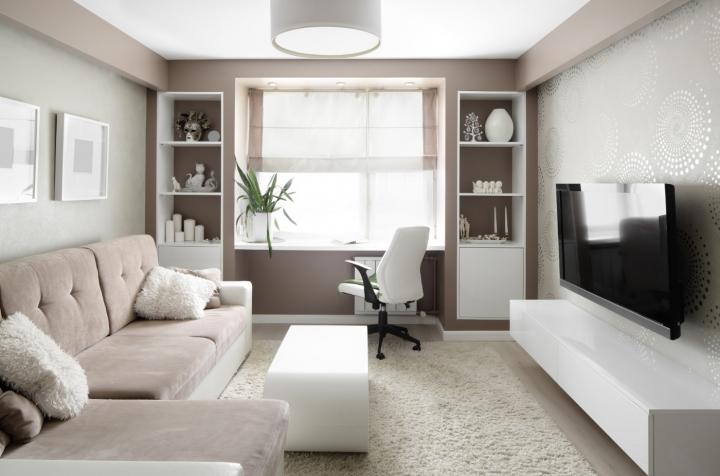 Интерьеры комнат для юношей однотонные