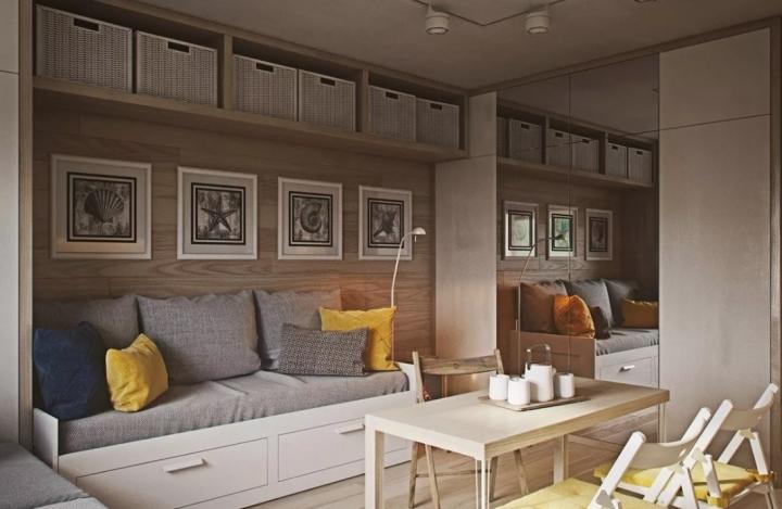 Уютный интерьер комнаты