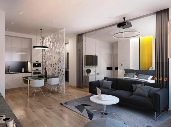 Организация пространства однокомнатной квартиры