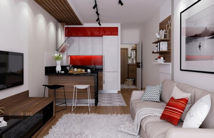 Вкрапление красного в интерьере: дизайн, сочетание цветов