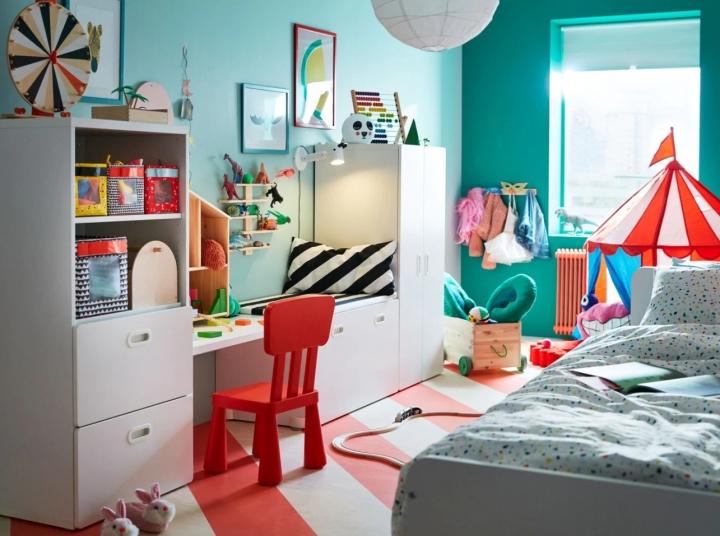 Интерьер детской комнаты в стиле «Икеа»: простая красота