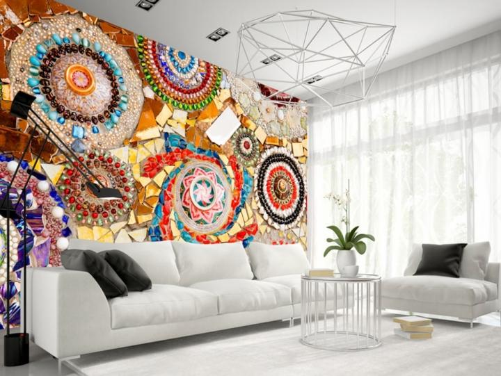 Оформление интерьера мозаикой