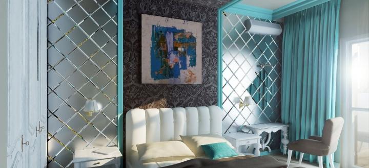 Декор из зеркальной плитки в квартире