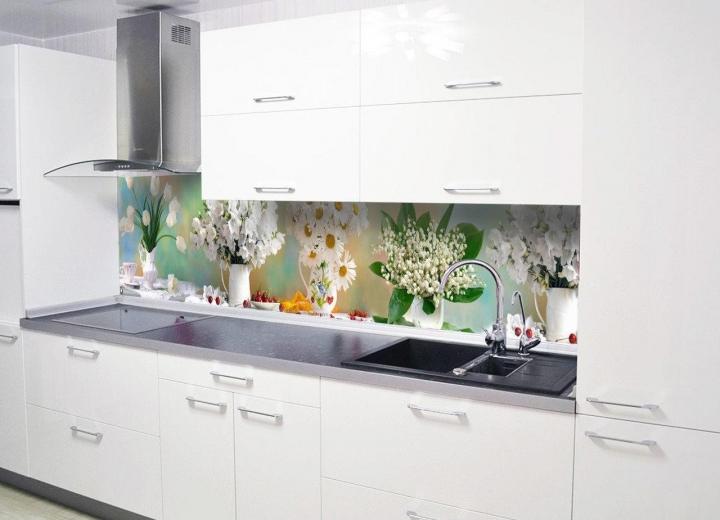 Кухонные фартуки в интерьере